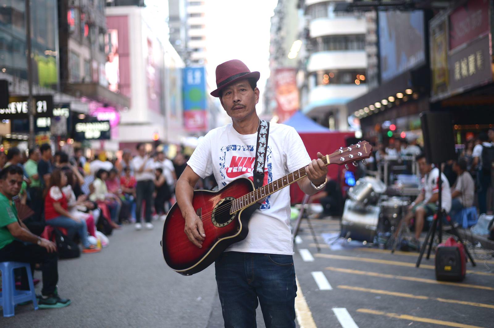 63歲業餘歌手林發(阿Lam)會在尖沙嘴繼續演唱