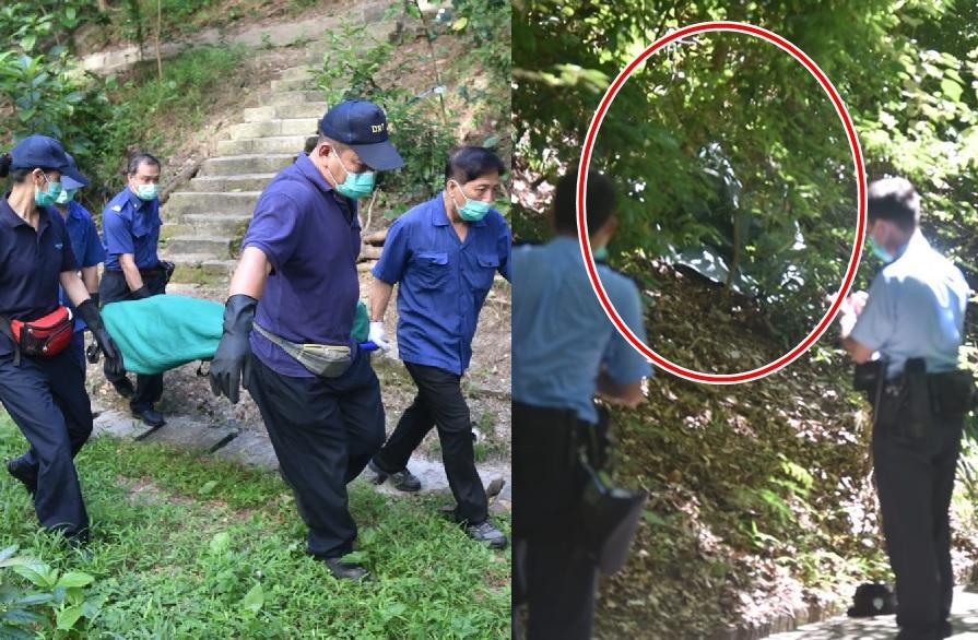 華富邨華樂樓山坡屍體發現案,仵工移送屍體到殮房。楊偉亨攝