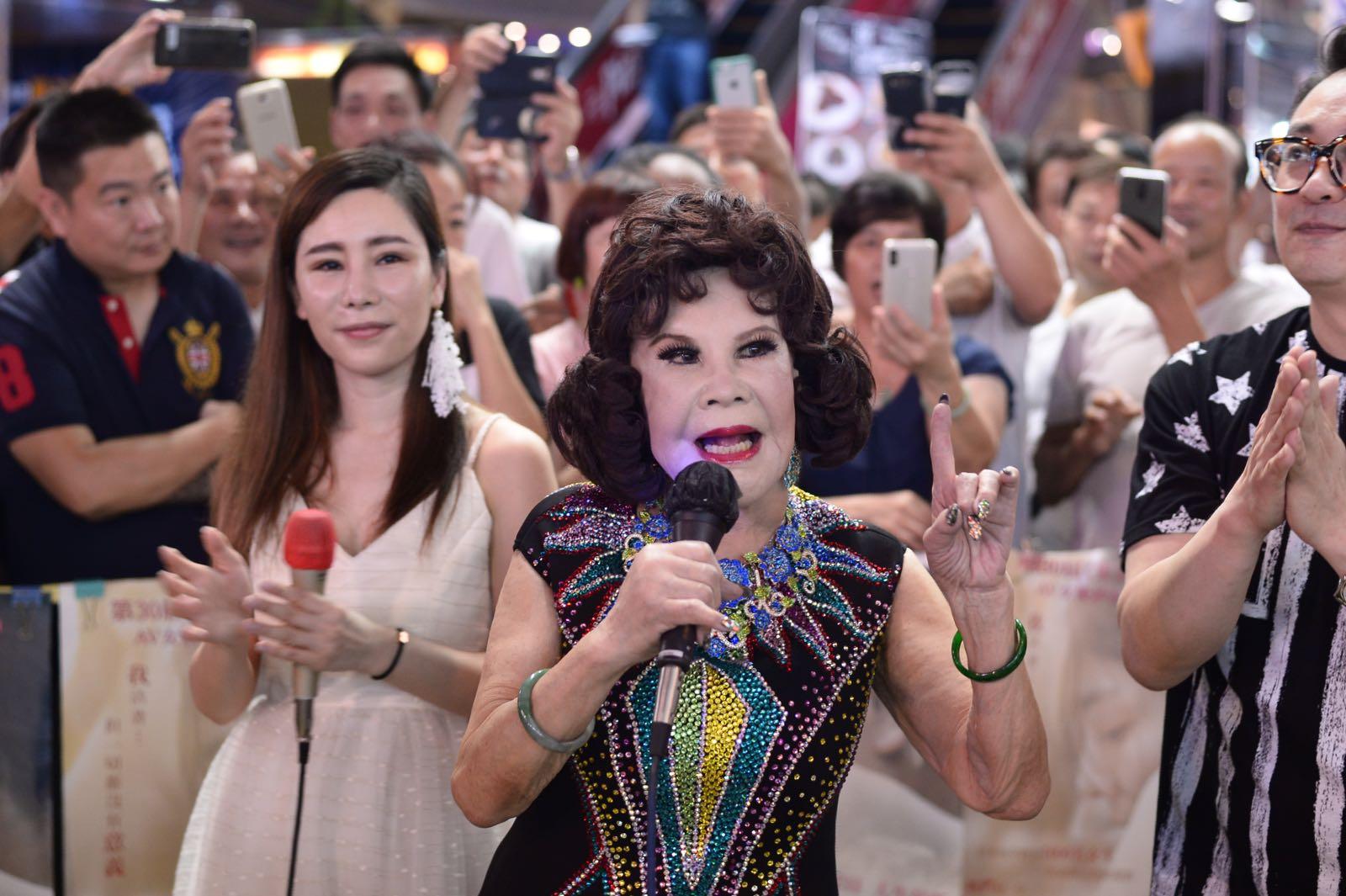 有團體邀請了夏蕙姨到場表演。蘇正謙攝