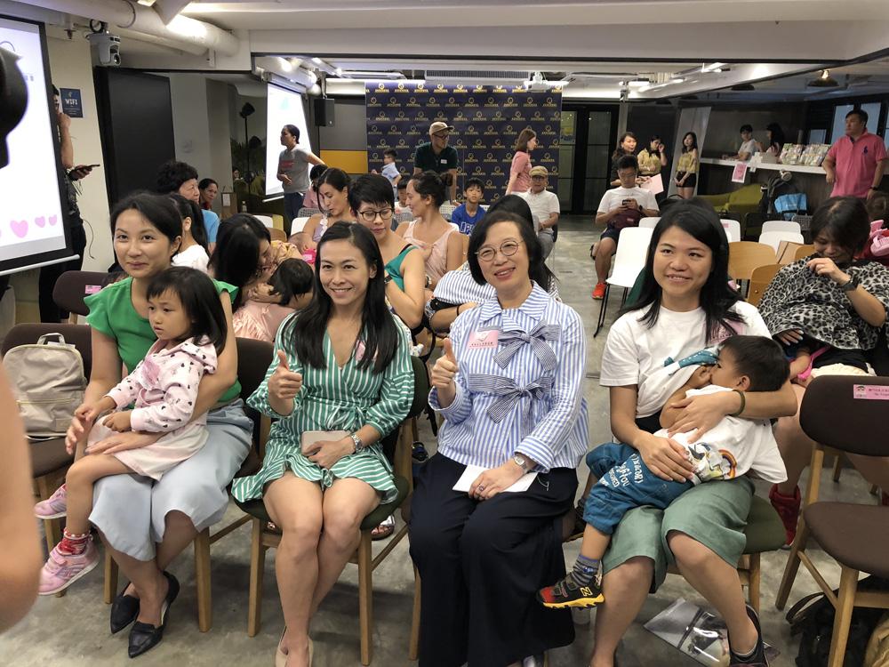 由一群熱心媽媽組成的香港母乳育嬰協會舉辦「愛家愛母乳」活動。食衛局圖片