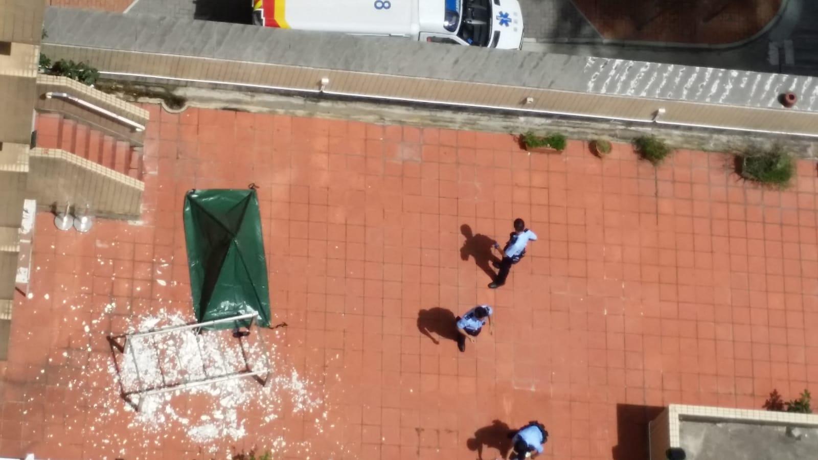 女子由20樓墮下平台,傷重死亡。