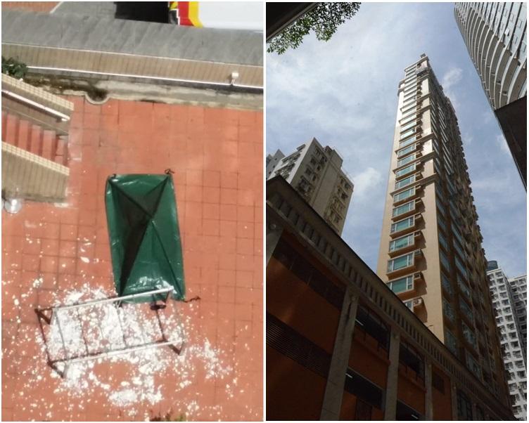 消息指,盧凱彤墮樓位置在寓所另一邊。