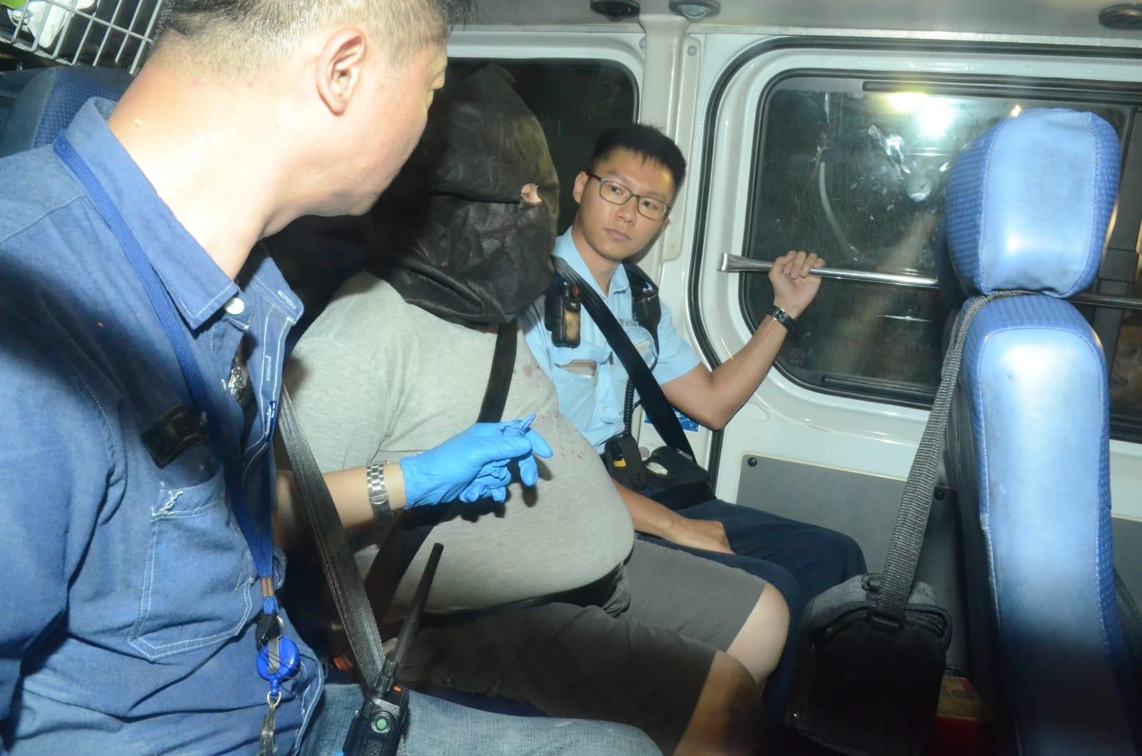 警方拘捕涉案男子