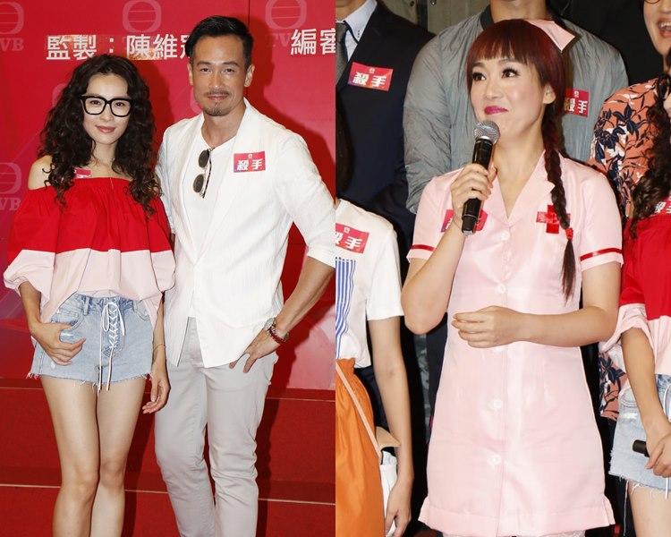 李佳芯、陳豪、江美儀宣傳新劇《殺手》。