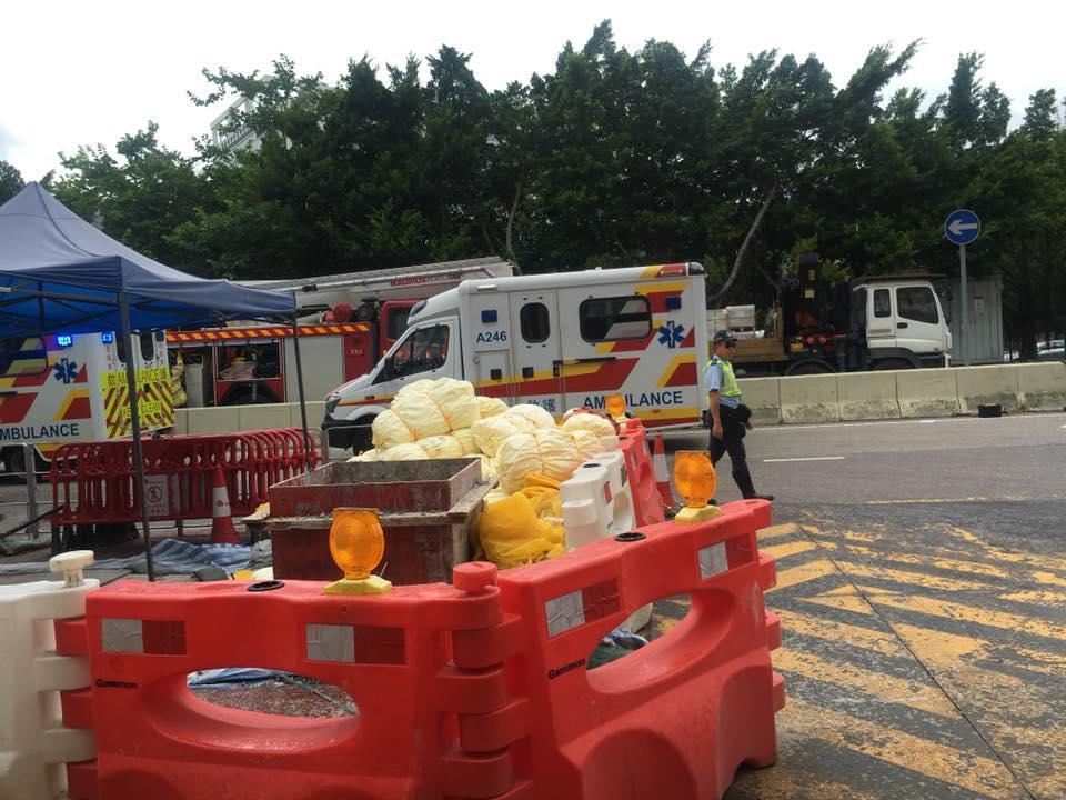警方正調查意外原因。 香港交通突發報料區FB/網民Wah Chung圖