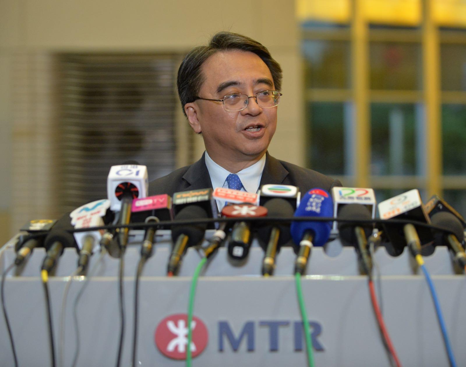 港鐵常務總監金澤培。黃賢創攝