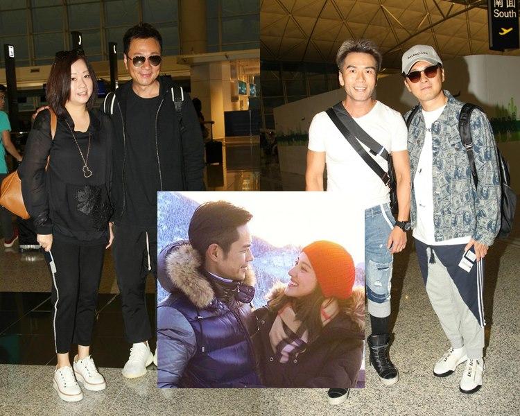 黎耀祥與太太、曹永廉、唐文龍出發去峇里,參加鄭嘉穎與陳凱琳的婚禮。