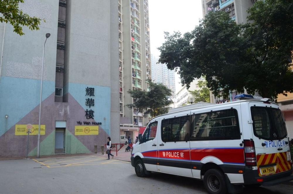 天耀邨耀華樓一名女子墮樓死亡。 資料圖片