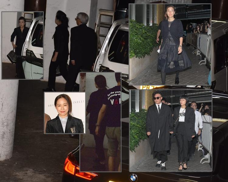 Ellen父母與林嘉欣、鄭秀文、陳奕迅與太太徐濠縈。