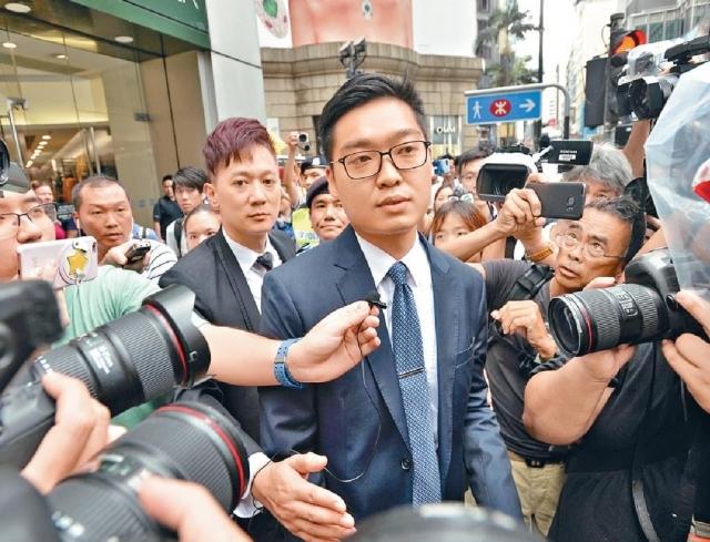 民族黨陳浩天表示,已經向保安局要求延遲回覆。 資料圖片