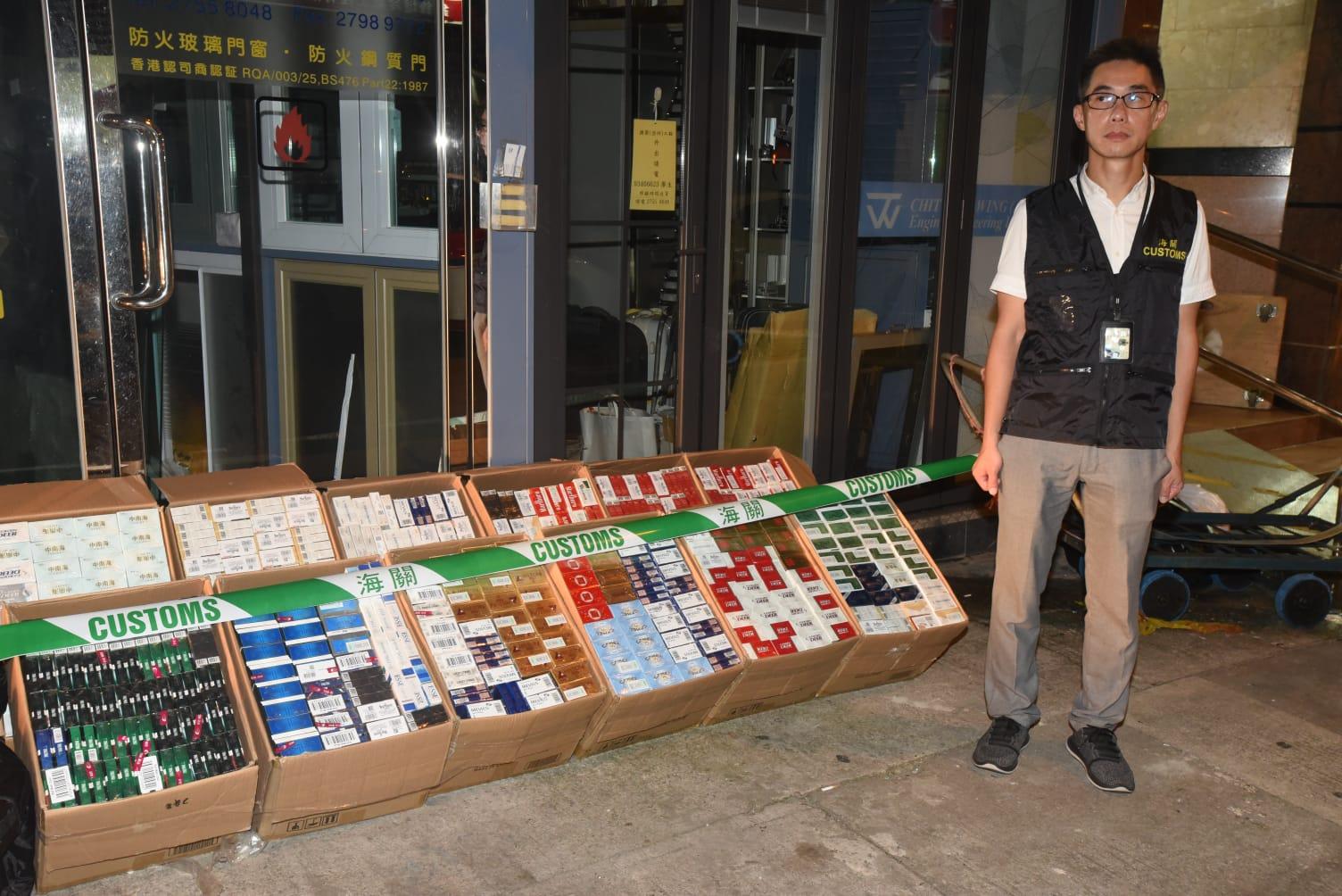 海關檢獲35萬元未完稅香煙