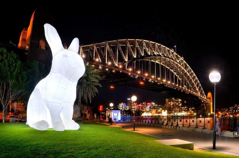 巨兔曾於多國展出。