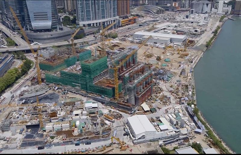 西九管理局終止「M+博物館」總承建商新昌營造的合約。資料圖片