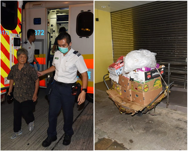 事發時婆婆正推著滿載紙皮的手推車行經昌華街。
