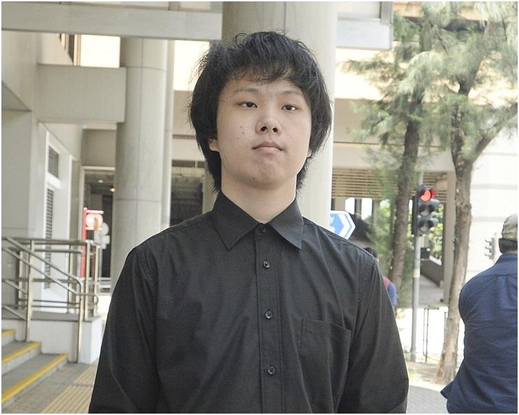 16歲青年、學生動員前成員劉康。 資料圖片