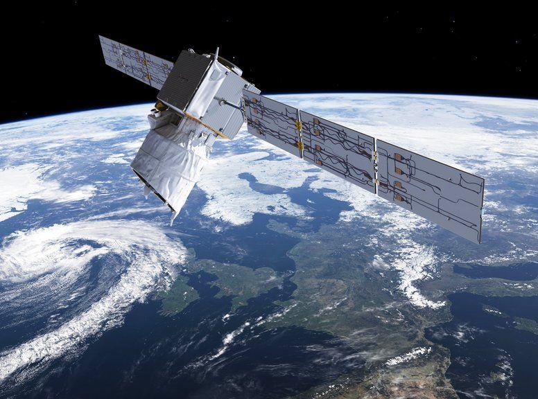 歐洲太空總署周三深夜發射「Aeolus」人造衛星升空。AP圖片