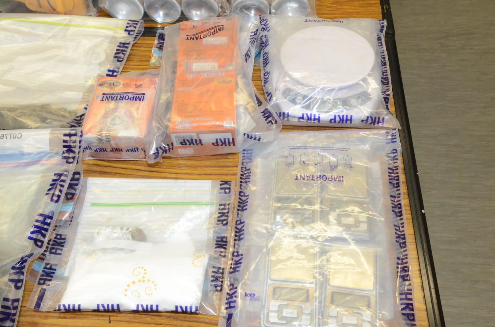 警方搜出毒品及工具