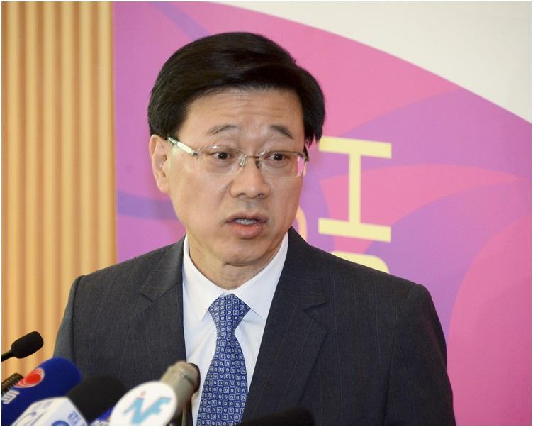 李家超指今次訪京,並無提及廿三條立法的問題。
