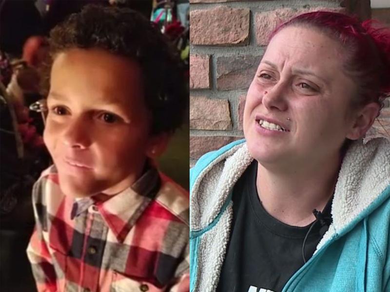 9歲男童傑默(左)在校宣布出櫃,4天就自殺身亡。母親皮爾絲(右)表示傑默自殺的原因是同學欺凌所致。(網圖)