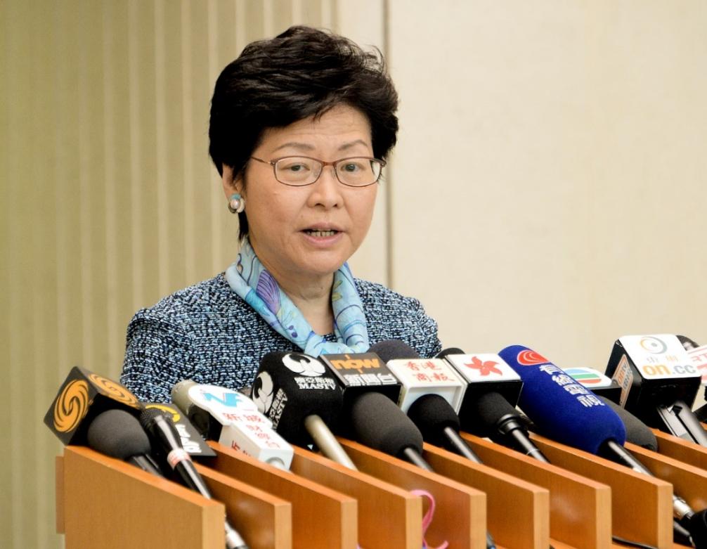 林鄭月娥今年10月發表《施政報告》,昨日與港區全國人大代表會面聽取意見。