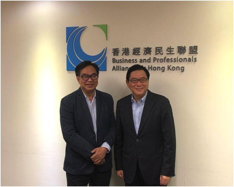 經民聯主席盧偉國(左)及副主席林健鋒(右)。