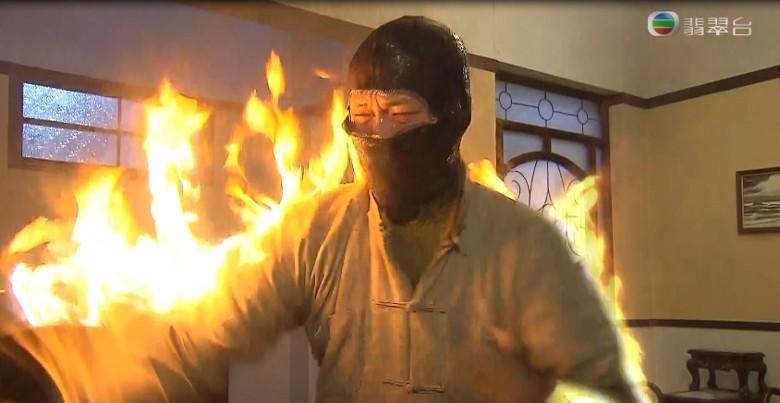 「火燒人」劇情被指造假。無線電視截圖