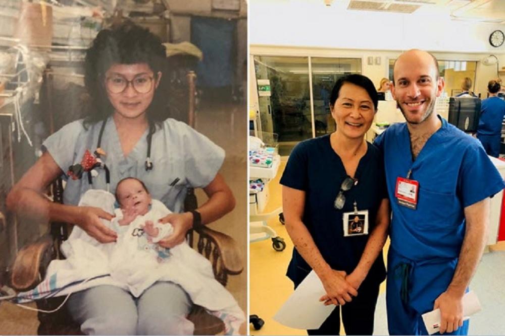 早產嬰當了醫生,還跟28年前照顧他的女護士相認。(網圖)