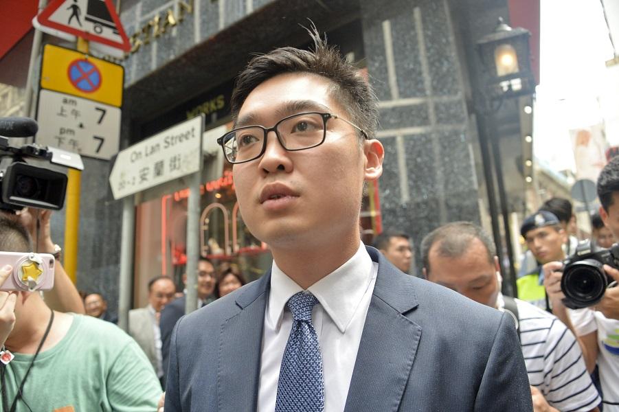 香港民族黨發言人陳浩天。資料圖片