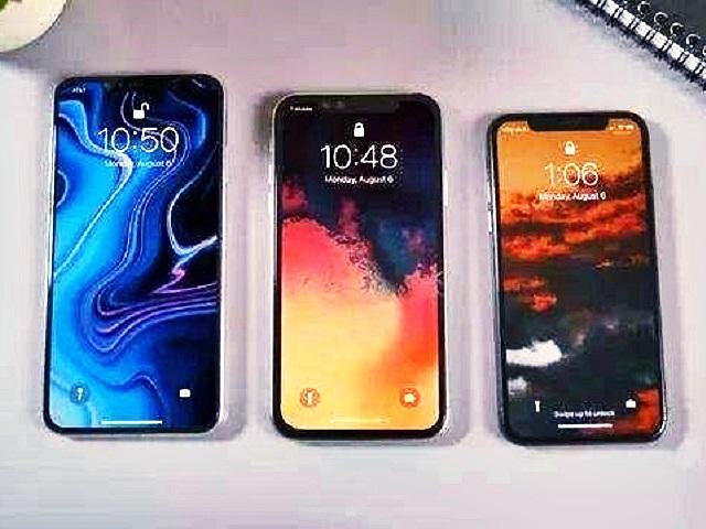 傳聞的三款新iPhone。網圖