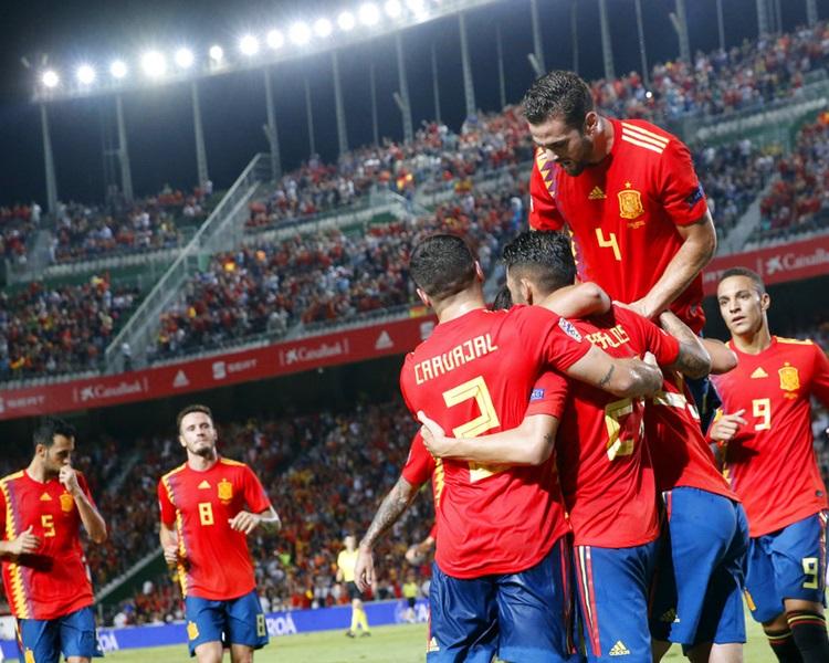 西班牙6:0大勝克羅地亞。AP