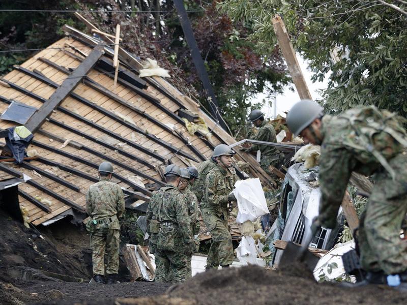 北海道地震導致大停電。AP資料圖片