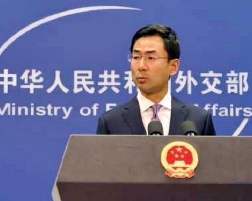 中國外交部發言人耿爽。資料圖片