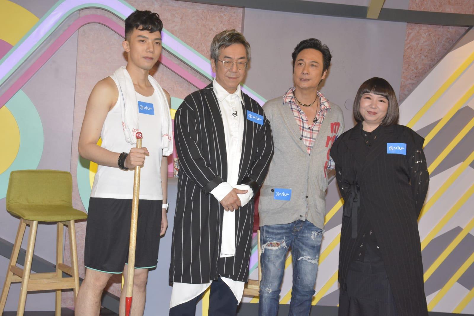 吳鎮宇錄影ViuTV節目。