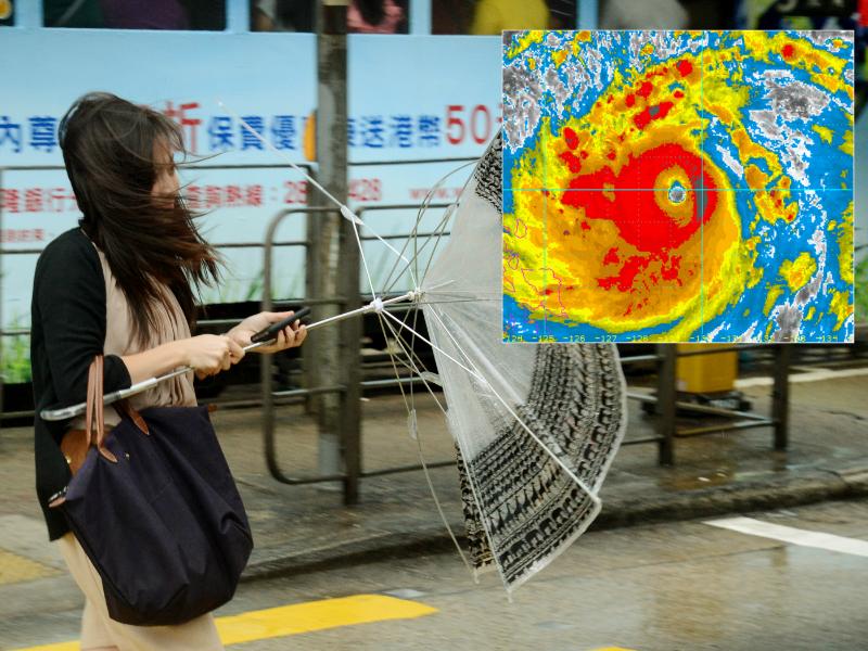 天文台警告周日天氣顯著轉壞。資料圖片