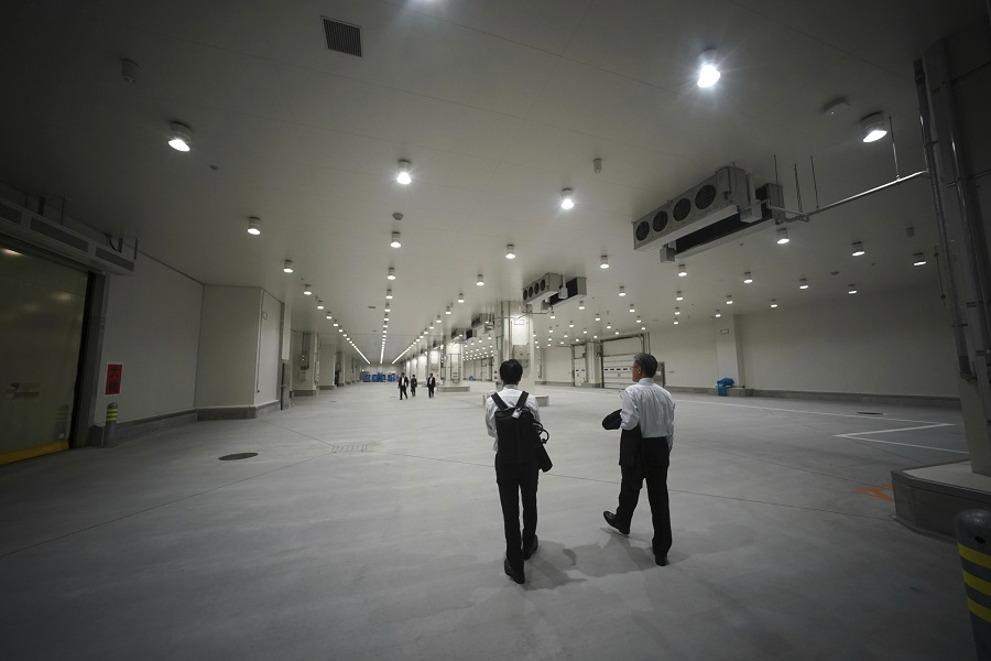 丰洲市场佔地面积约40万平米,是筑地的约1.7倍。