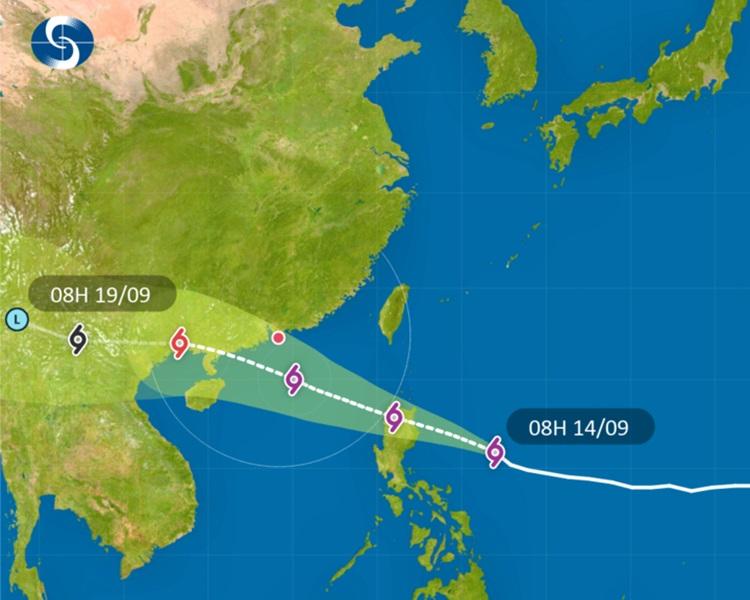 「山竹」明進入南海或改變路徑,料維持超強颱風級數。天文台圖片