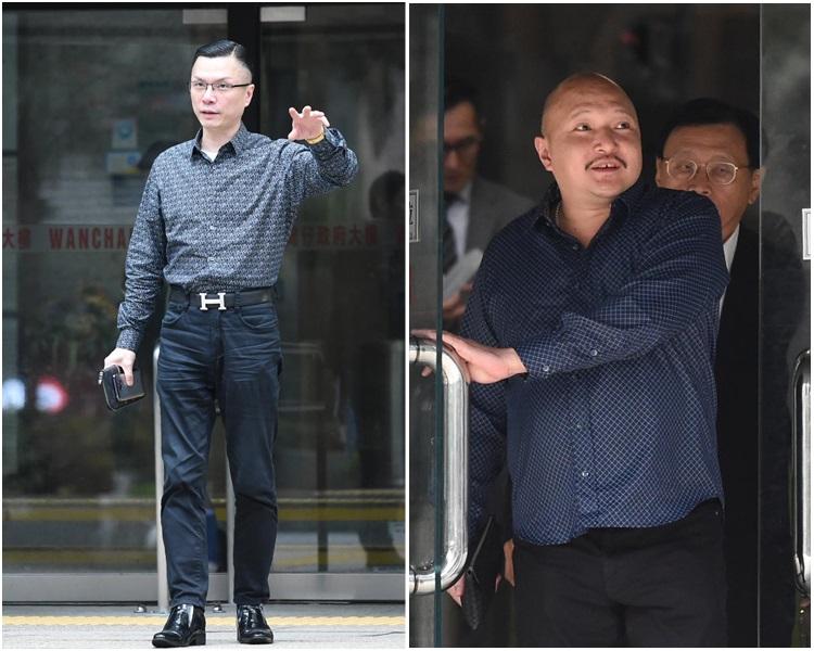 案件其中兩名被告陳家建(左)及黎家龍(右)。資料圖片