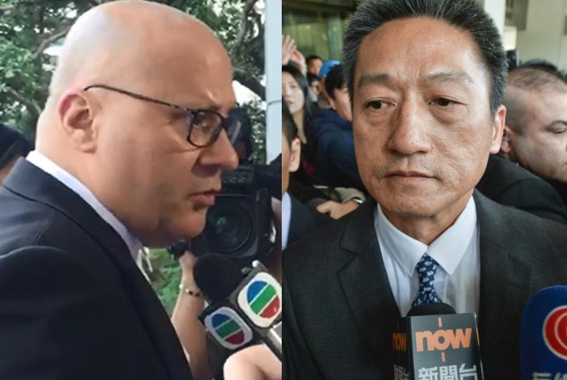 大律師彭彼得(左)表示,朱經緯暫不會申請擔保。