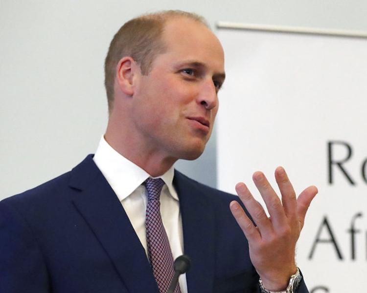 威廉王子一度誤將「日本料理」說成「中國菜」。AP