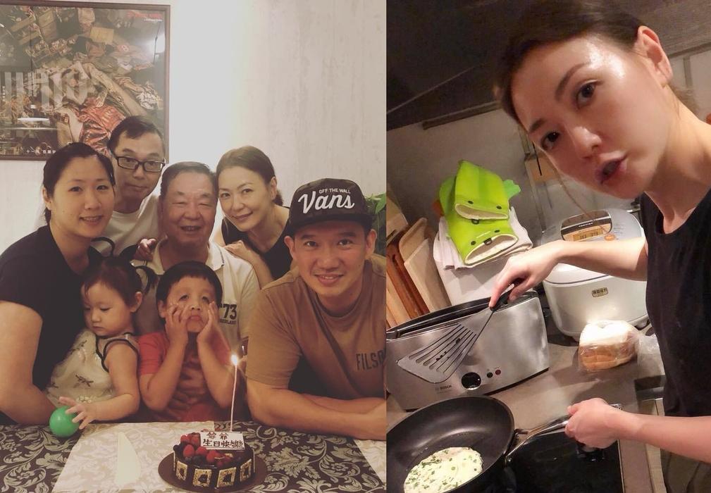 田蕊妮為爸爸的生日下廚,全家齊慶生。杜汶澤facebook圖片
