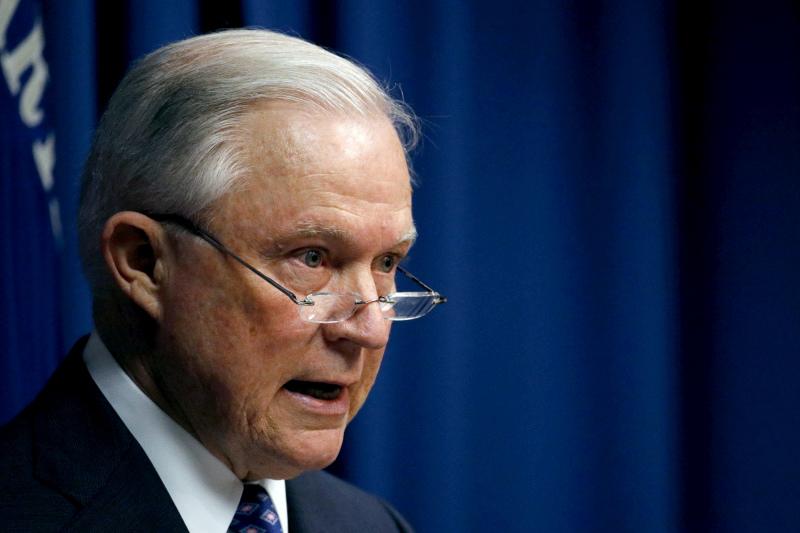 美國司法部長塞申斯。AP資料圖片