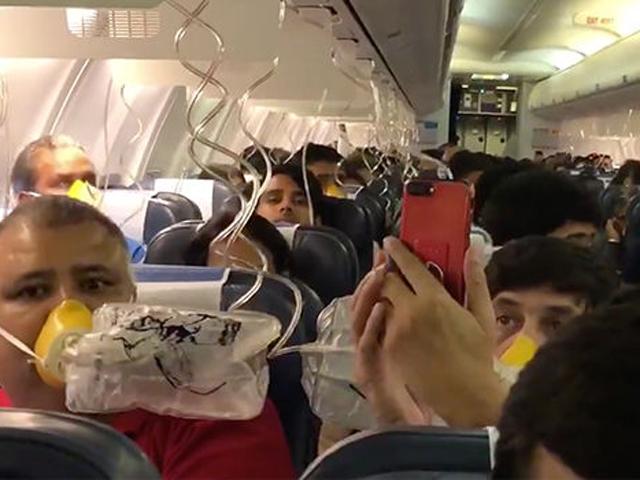 機上近30名乘客出現耳鼻流血徵狀,約45分鐘飛機安全折返機場。 網圖