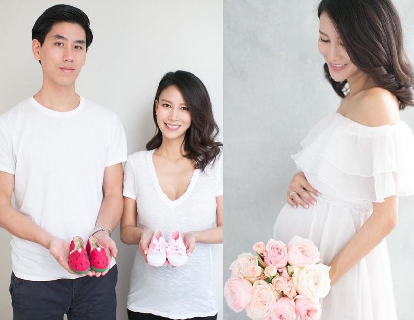 李雪瑩宣佈懷有女兒。李雪瑩ig圖片