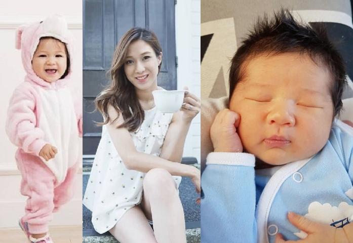 三年抱兩的鍾嘉欣將好孕」轉給好姊妹。鍾嘉欣fb圖片、資料圖片