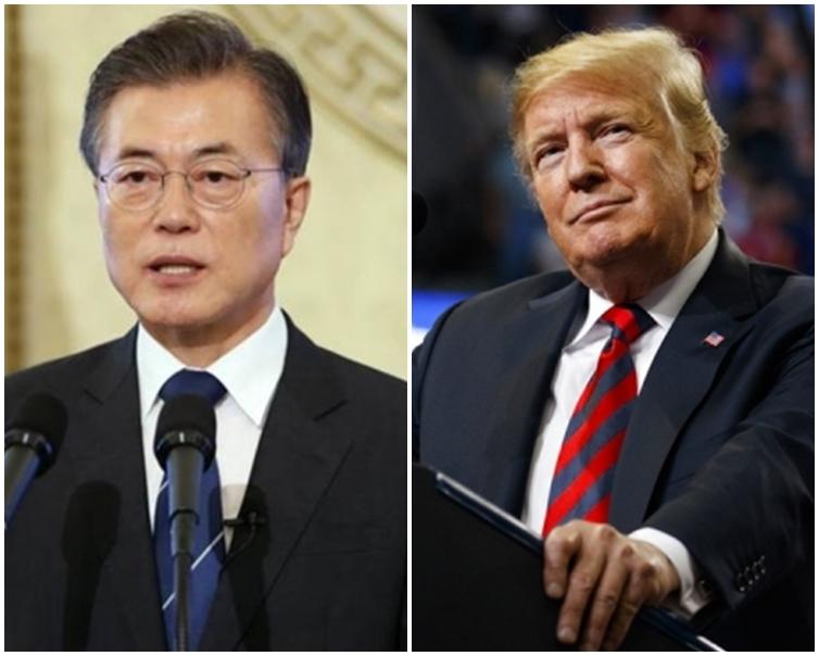 南韓總統文在寅將與美國總統特朗普討論北韓問題。資料圖片
