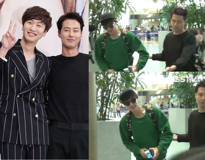 李光洙(左)與趙寅成(右)合作拍劇成為好友。網圖