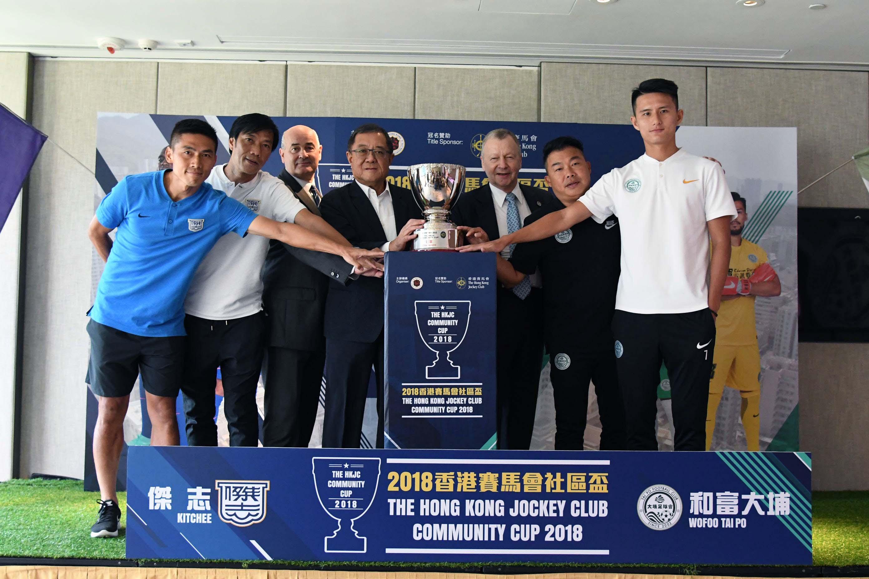 黃威(右一)望以表現爭取入選港隊廿三人名單