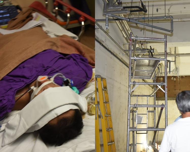 工人觸電後墮下受傷。