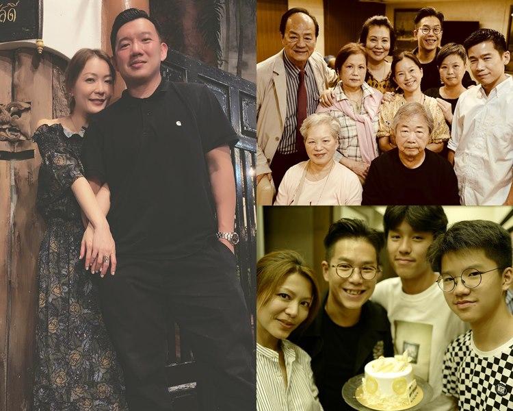 田蕊妮孖老公杜汶澤及好友,旅行慶祝41歲生日;林曉峰Call齊家人食飯賀48歲牛一。(ig圖片)