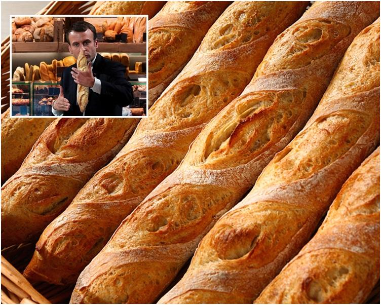 馬克龍力挺下法式長棍麵包可能很快列入非物質文化遺產名錄。網圖